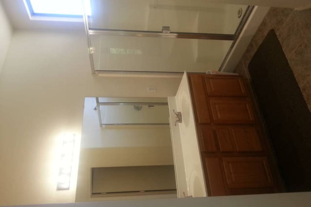 Shared bathroom and shower
