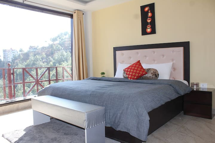 king bedroom in Apartment