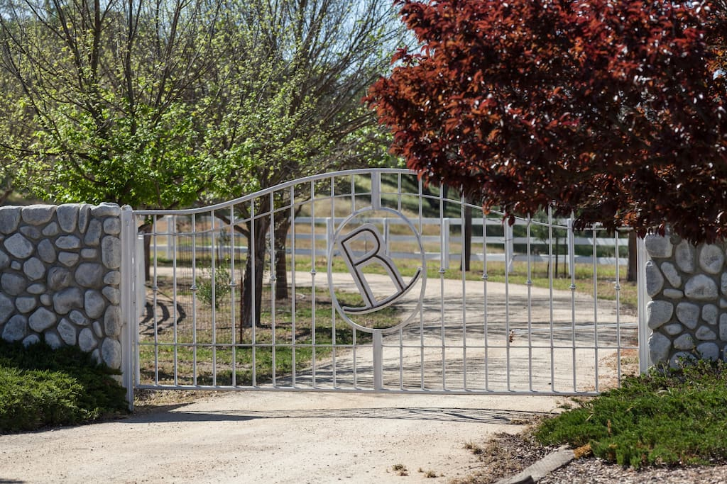 R-security gate accessed by personalized, private gate code.