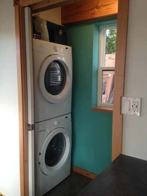 You will have access to a a washer and dryer.