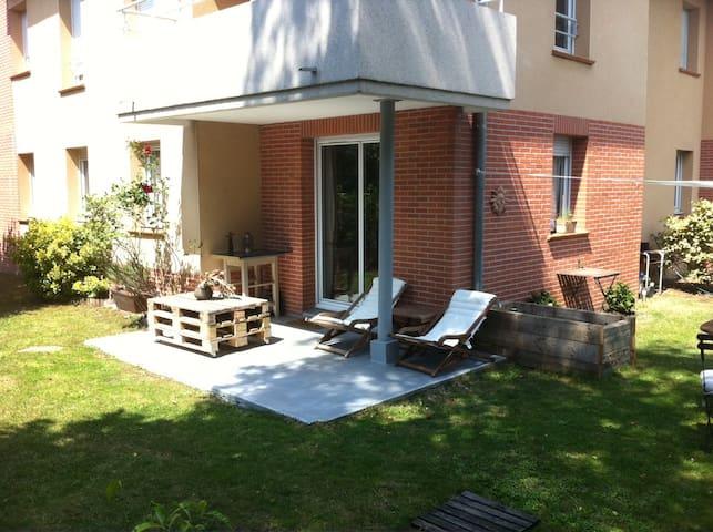 Appartement T4 avec jardin - Toulouse - Apartamento