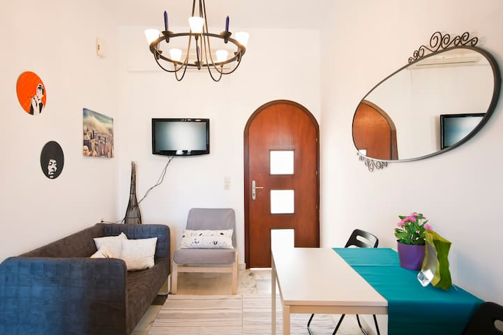 Comfy city apt 5min from the beach - Heraklion