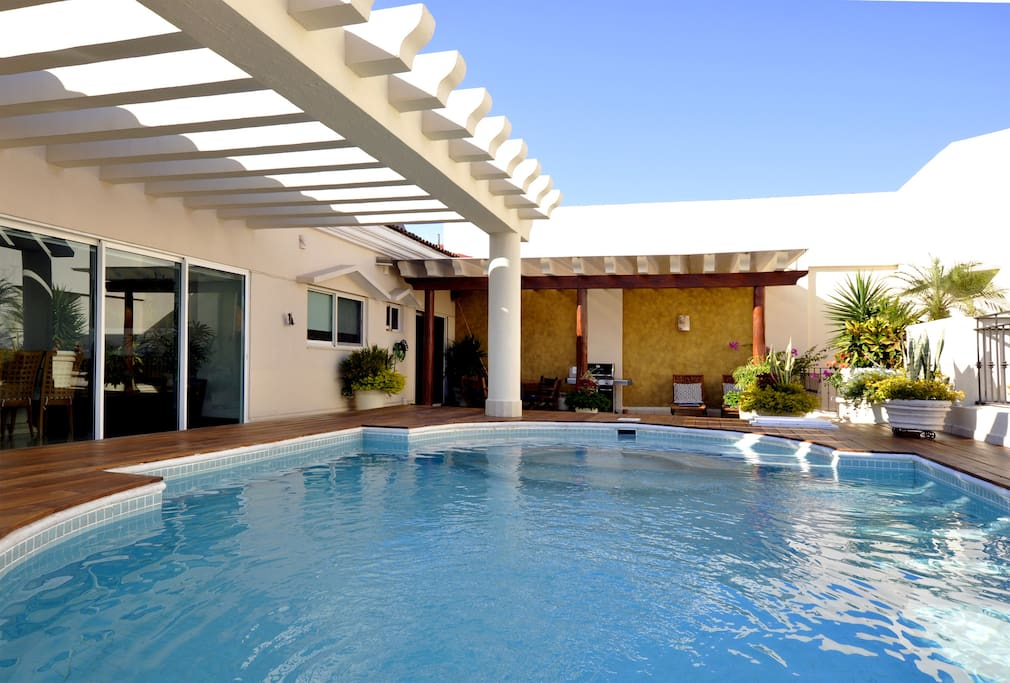 Private pool, grill and over 2000 square feet of patio space