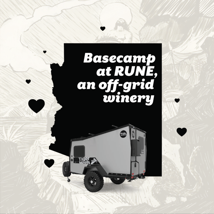 Basecamp at RUNE, an off-grid winery