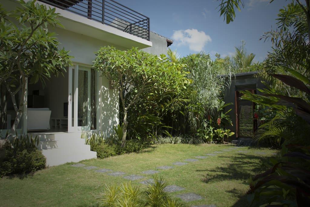 Garden and Balinese entrance