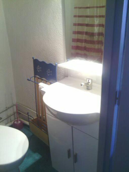 salle de douche agréable