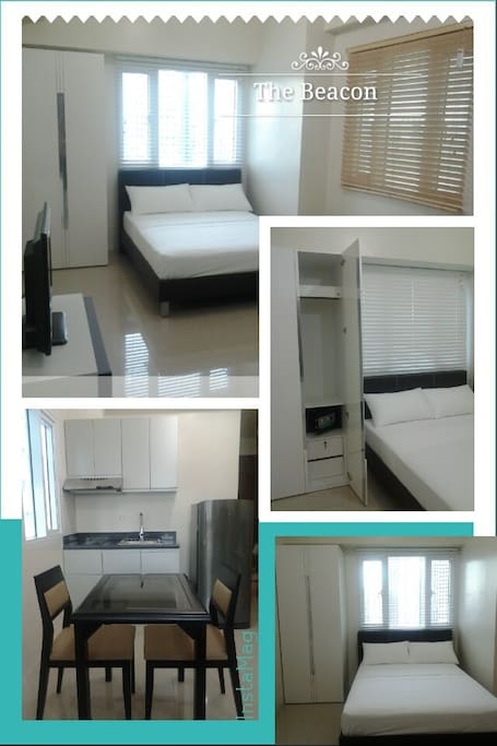 Room offers a double size bed, LED TV, safe vault, fridge, air-conditioning, kitchen (induction stove and cooking utensils), dining and housekeeping service for the comfort of a home.