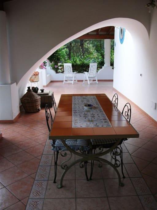 Terrazza attrezza Lipari Antica Villa