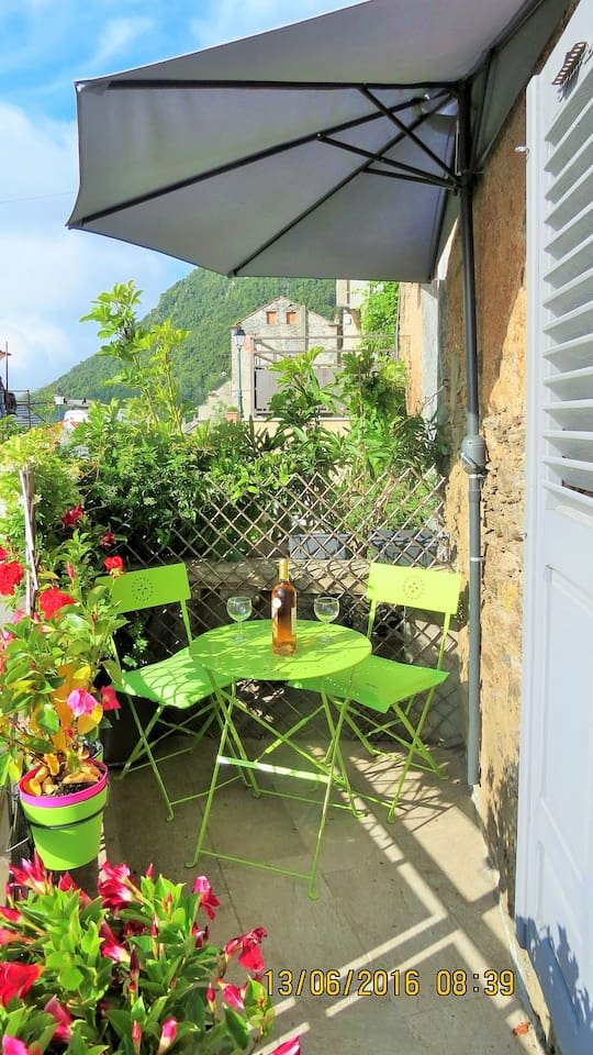 la terrasse...accueillante !
