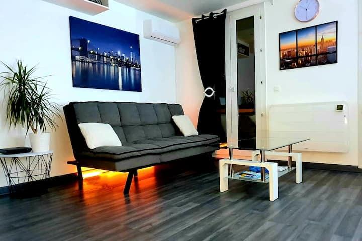 Studio spacieux et lumineux, grand confort