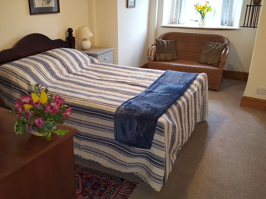 Our Abbots Room look over the front of the house and can have an additional small bed