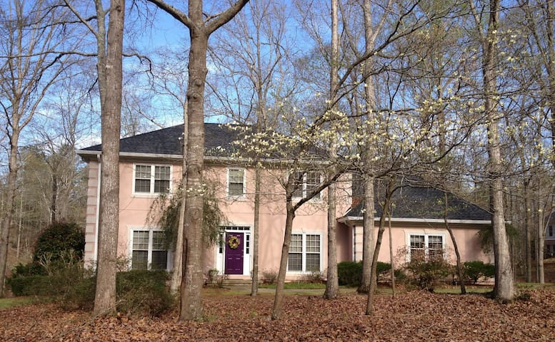 Lake-front home in wooded setting. - Watkinsville
