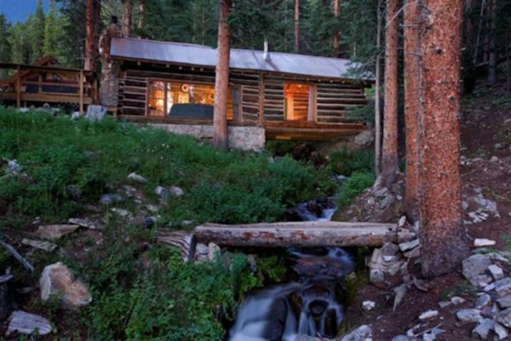 Authentic log home cabins for rent in breckenridge for Cabin rentals breckenridge
