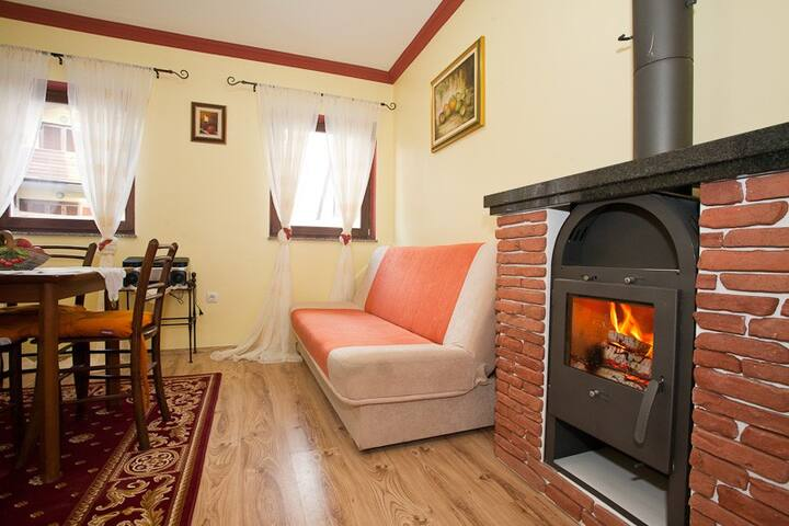 Flat 4 4-fireplace and lake view   - Fužine - Apartment