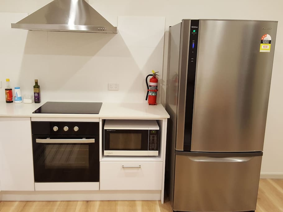 cooktop, oven and microwave