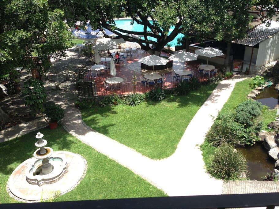 Vista al club desde el balcón