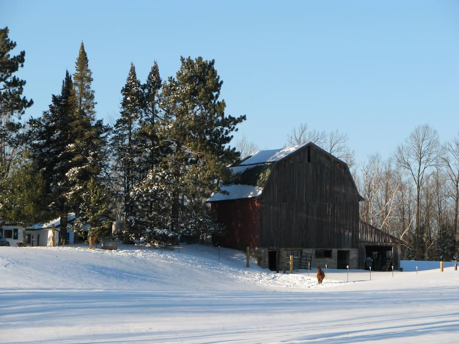 Historic loose hay barn built at the turn of the century