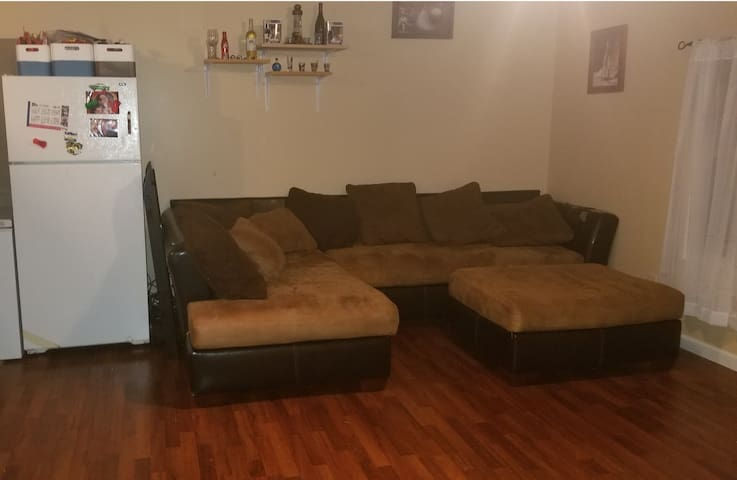 Large sectional. Seats 6 and can sleep 2.