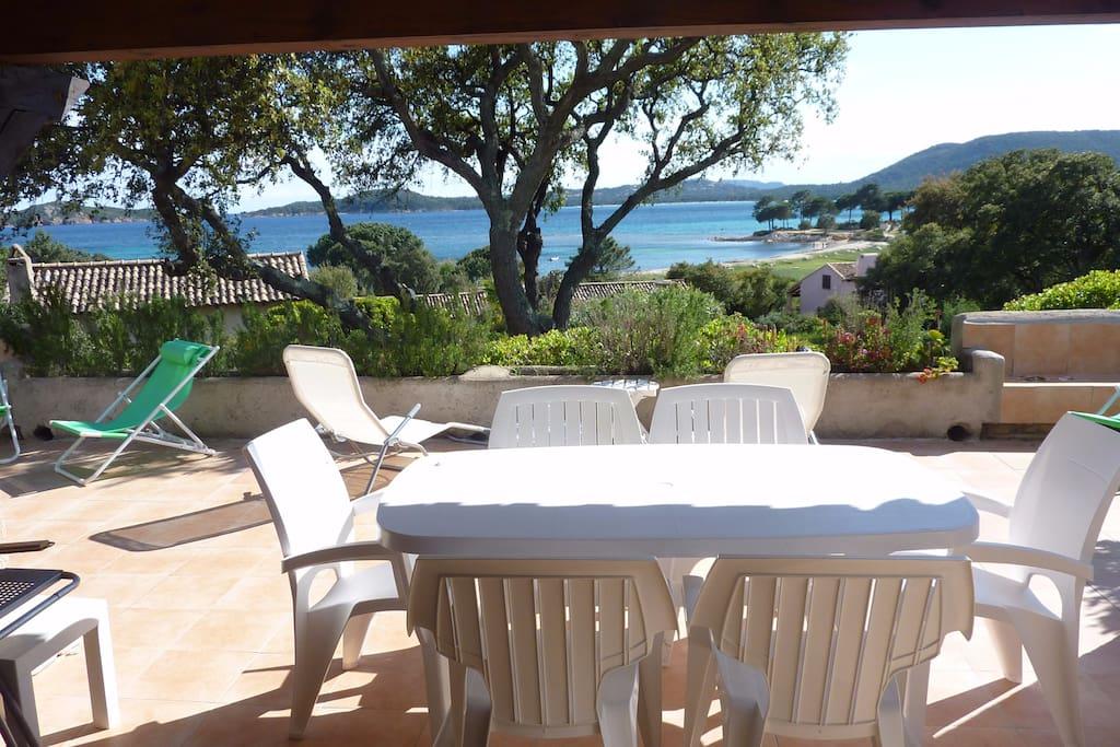 villa plage vardiola porto vecchio villas louer zonza corse france. Black Bedroom Furniture Sets. Home Design Ideas
