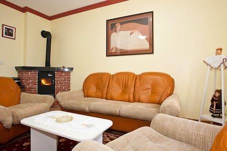 Large apt 4 4, fireplace&lake view - Fužine