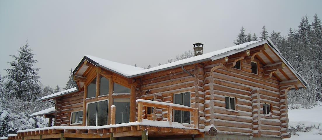Chambre privée dans maison en rondins - Le Vintrou - Chatka w górach