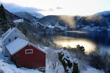Winters are mild this close to the fjord. We usually have only a few days of snow, and there is hardly any wind here.