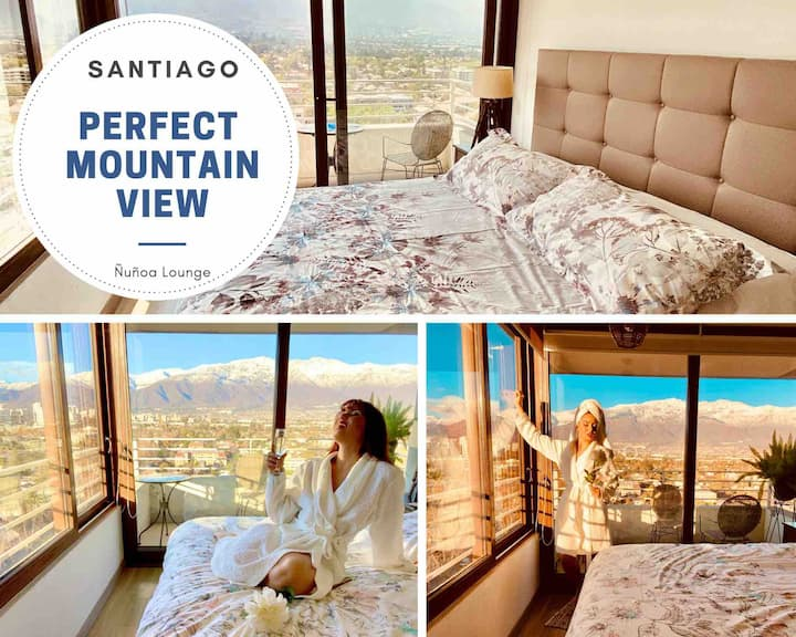 Family STGO Lounge Penthouse with best Andes View