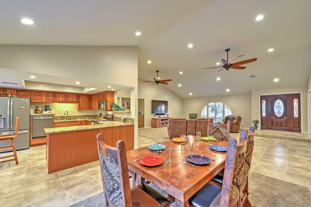 Enjoy a home-cooked meal around the dining room table.