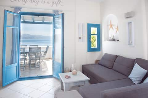 JUST BLUE  with amazing Seaview in Piso  Livadi