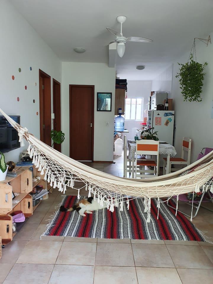 Apartamento especial, 800m da praia do Rio Tavares