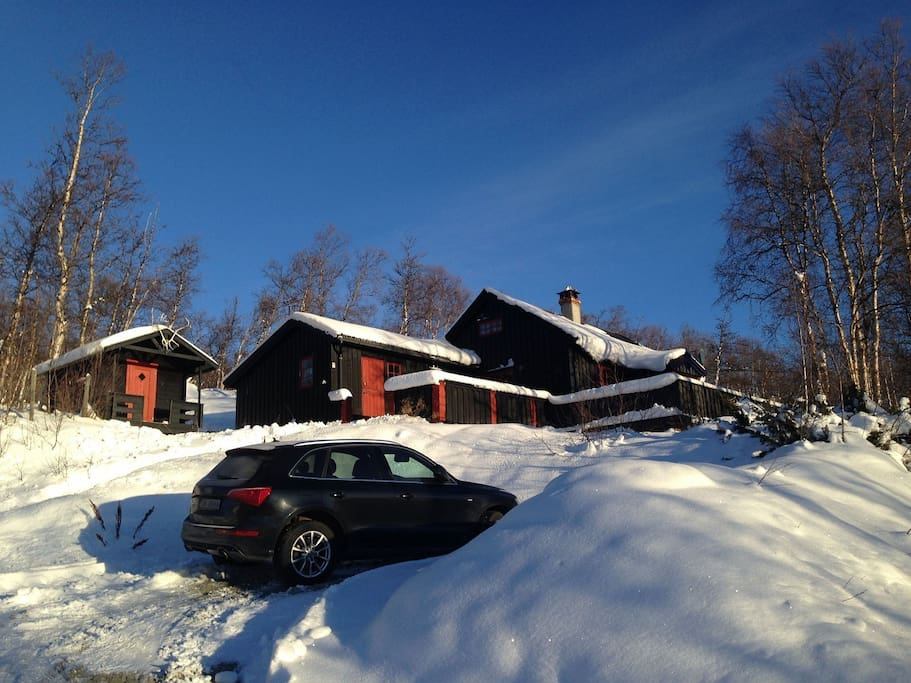 Parking by the cabin