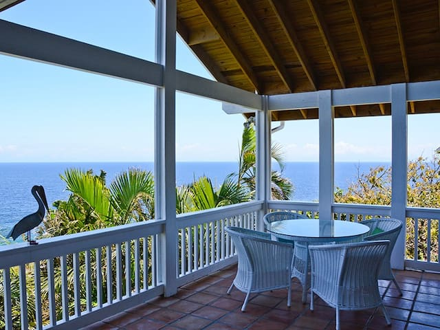 Pelican House - Stunning sea views, expansive decks close to West Bay Beach