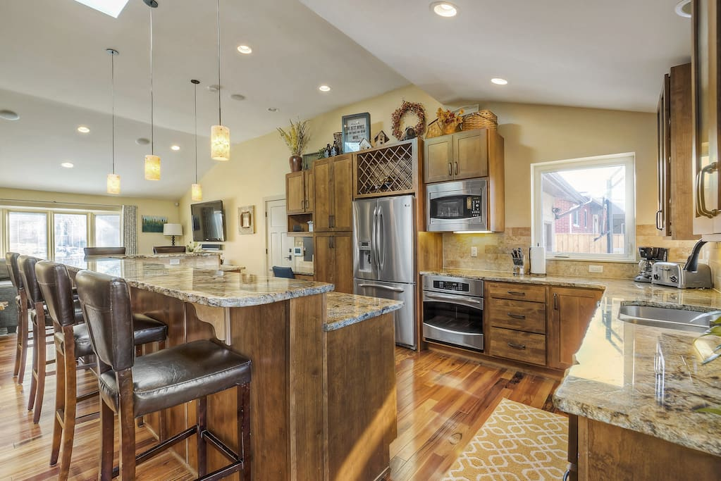 Expansive kitchen on main floor