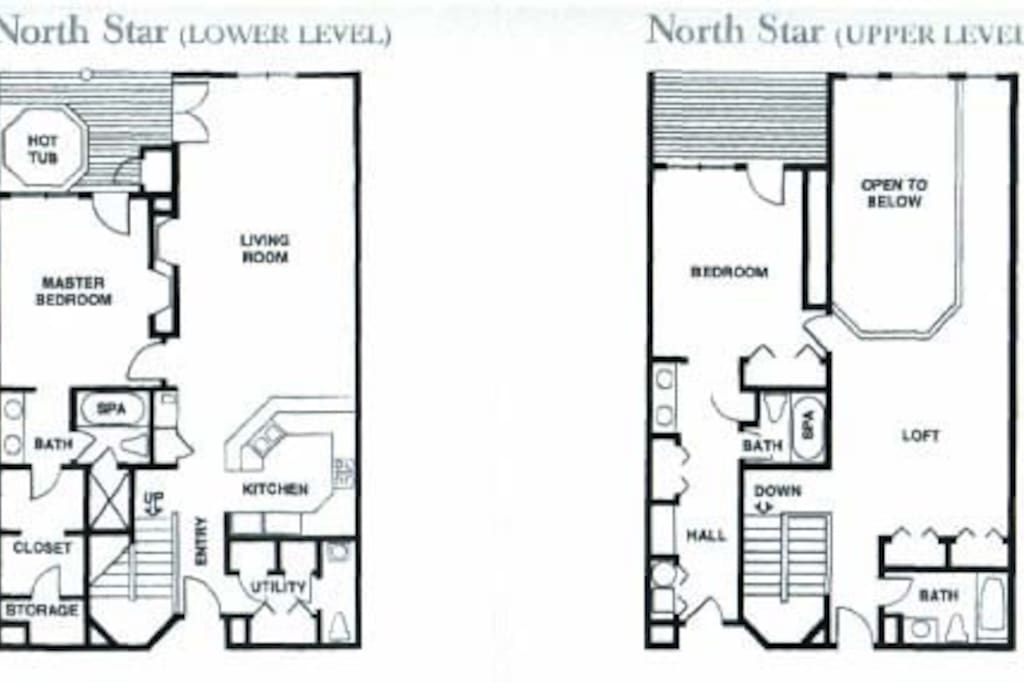 See the floor plan for the unit