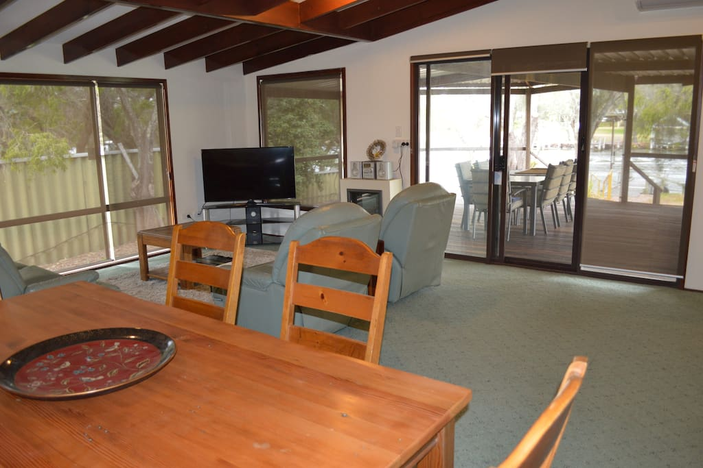 Dining — Living with view to verandah