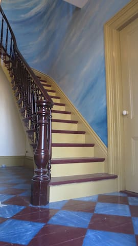 Entrance hall stairway