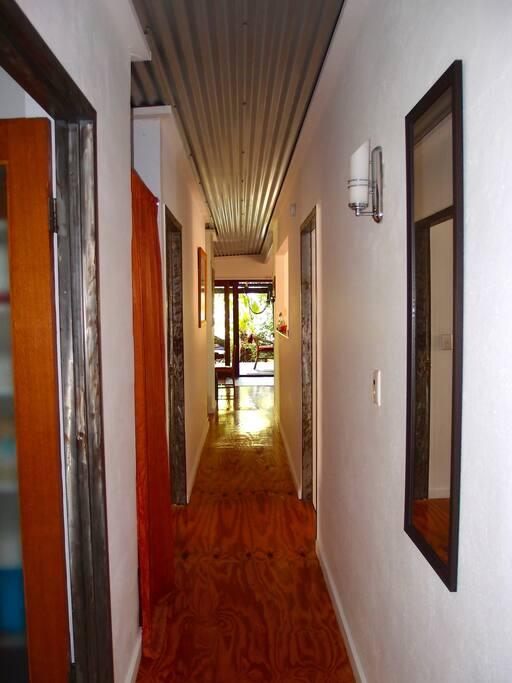 The hall way looking towards the front door