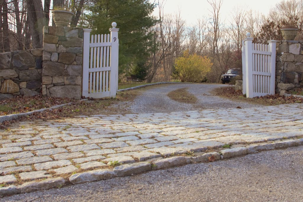 Private Driveway with Gated Entrance