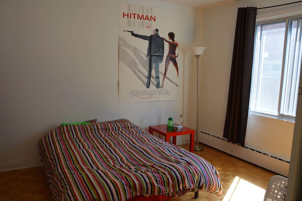 Partie chambre avec grand placars