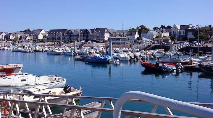 T1 bis sur le port Bretagne sud