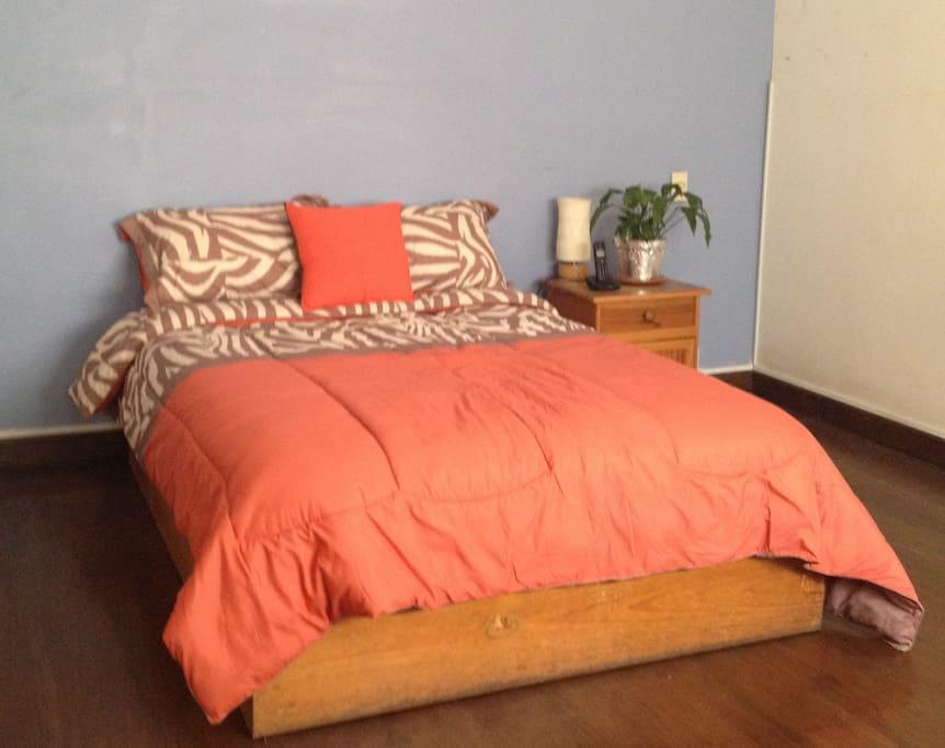 Récamara amplia con cama matrimonial