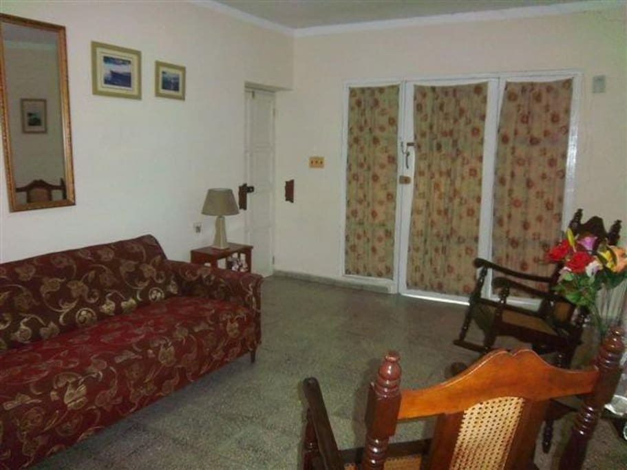 Living room. Space is included  with private room 2 or full house rental