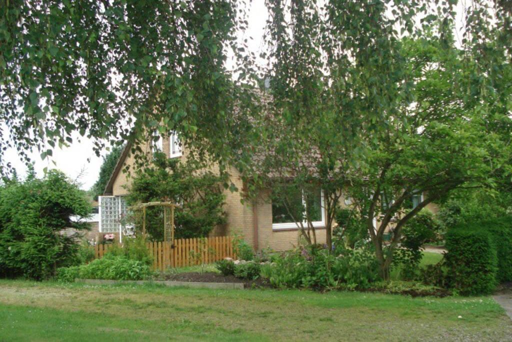 Garten vor dem Ferienhaus