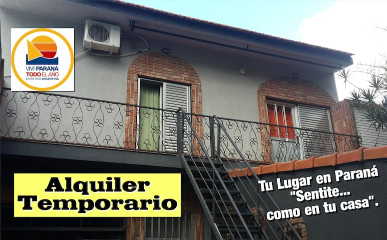 """Tu lugar en Paraná...""""sentite como en tu casa""""."""