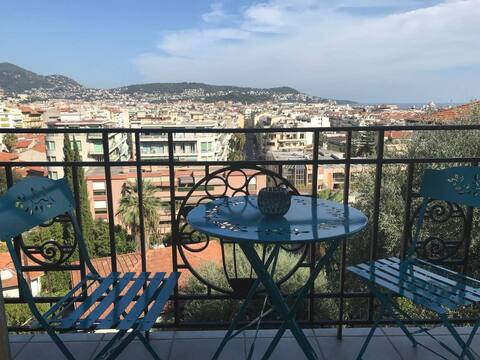 Sunnny apartment in Nice 10 min. from the beach