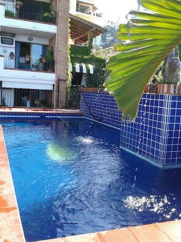 Private swimming pool avaiable for condo owners and visitors.  Alberca Privada para uso exclusivo de los Huespedes  y Visitantes