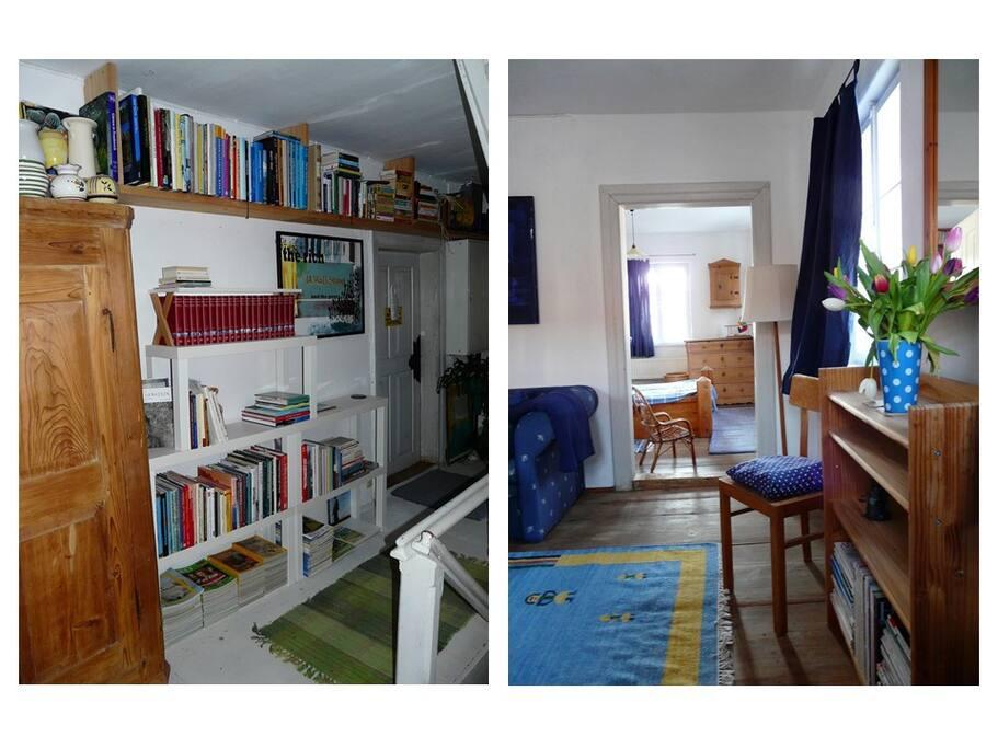 Zugang vom Flur ins 1. Zimmer und Blick vom 1. ins 2. Zimmer