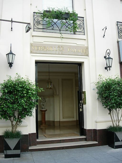 Entrance to the building of Avenida Alvear 1807, a sophisticated house