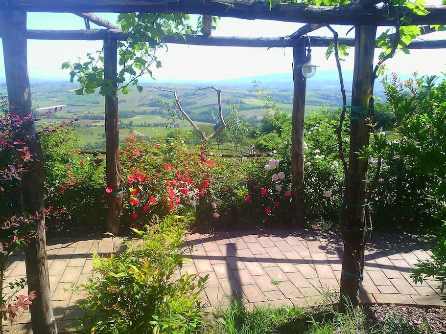 terrazza sulla media valle del Tevere