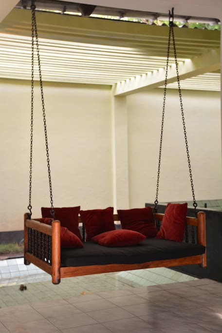 The indoor swing- is just for you to sit & enjoy